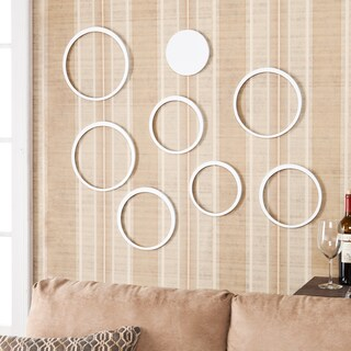 Aurora 8 Piece White Circle Wall Sculpture