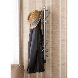 Upton Home Holton Wall Mount Silver Entryway Coat/ Hat Hanging Rack