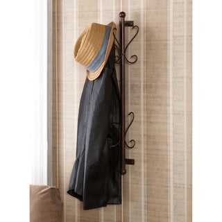 Upton Home Holton Wall Mount Bronze Entryway Coat/ Hat Hanging Rack