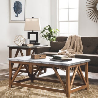 Zinc Top Bridge Coffee Table