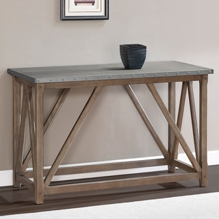 Zinc Top Bridge Sofa Table
