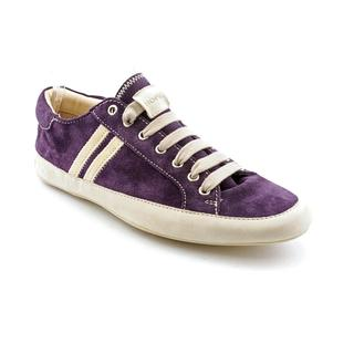 Emma Hope's Shoes Men's Purple 'Slim' Regular Suede Casual Shoes
