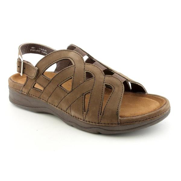 Barefoot Freedom by Drew Women's 'Sandy' Nubuck Sandals - Narrow (Size 6)