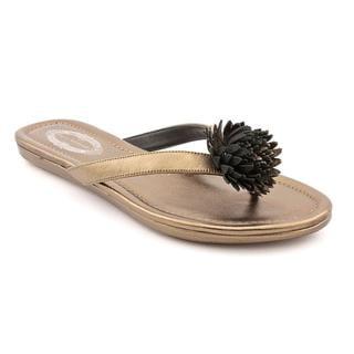 Elie Tahari Women's Bronze 'Laurel Thong' Leather Sandals