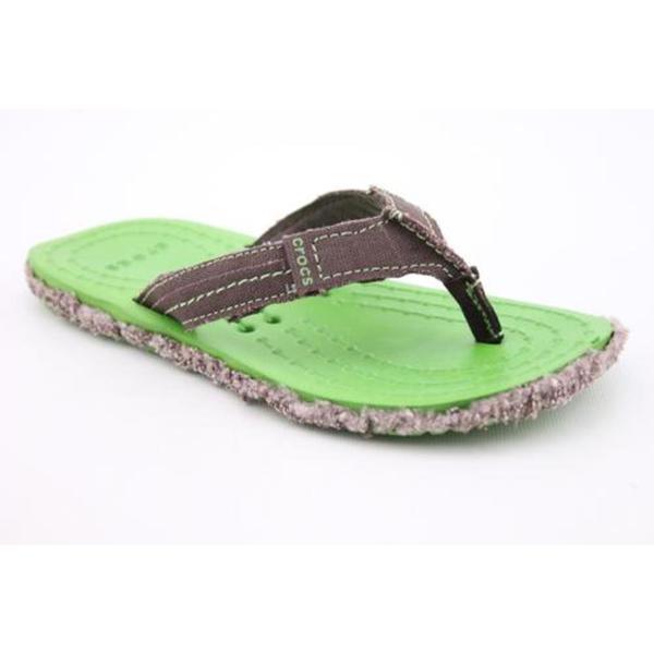 91b2791ad Crocs Womens Melbourne Flip Basic Textile Sandals (Size 4) on PopScreen