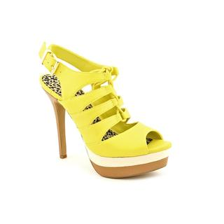 Jessica Simpson Women's Yellow 'Elenor' Leather Dress Shoes