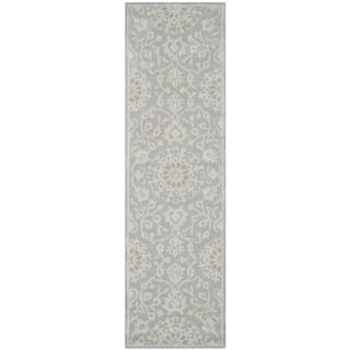 Safavieh Handmade Bella Grey/ Silver Wool Rug (2'3 x 12')