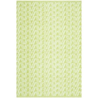 Thom Filicia Hand-woven Indoor/ Outdoor Key Lime Plastic Rug (2'6 x 4')