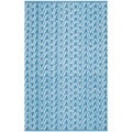 Thom Filicia Hand-woven Indoor/ Outdoor Summer/ Blue Plastic Rug (2'6 x 4')