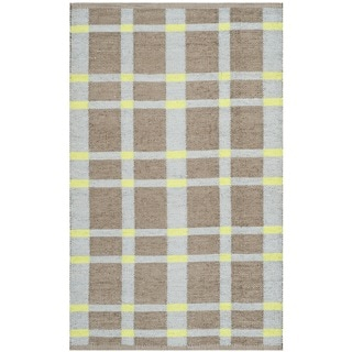 Thom Filicia Hand-woven Indoor/ Outdoor Lawn Green Plastic Rug (2'6 x 4')