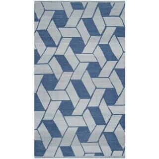 Thom Filicia Hand-woven Indoor/ Outdoor Indigo Plastic Rug (3' x 5')
