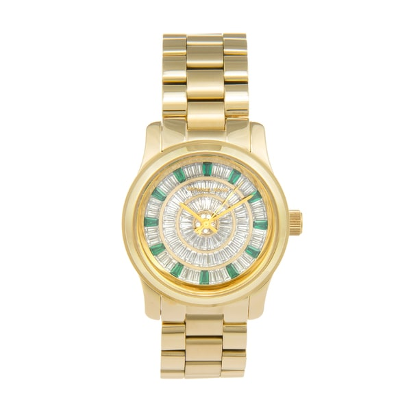 Michael Kors Women's MK5730 'Green Glitz' Mid Size Watch