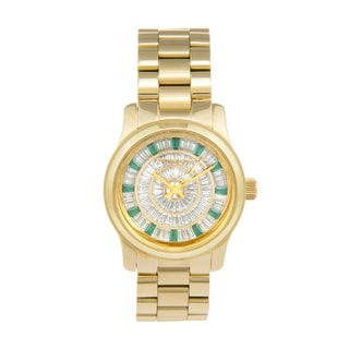 Michael Kors Women's MK5730 'Green Glitz' Mid Size Watch