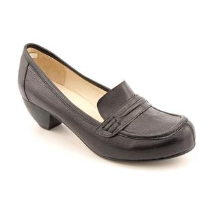 All Black Women's 'Loafer Low' Leather Casual Shoes