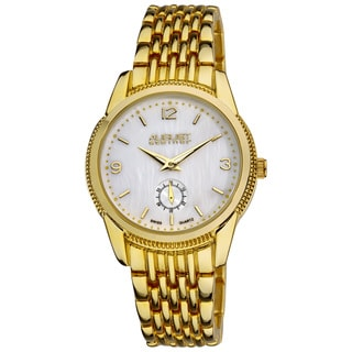August Steiner Women's White-Dial Swiss Quartz Watch
