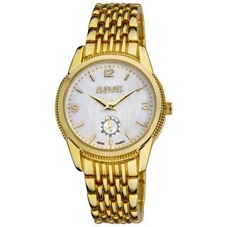 August Steiner Women's White-Dial Swiss Quartz Watch