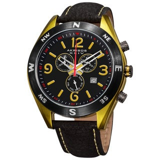 Akribos XXIV Men's Swiss Quartz Chronograph Strap Watch