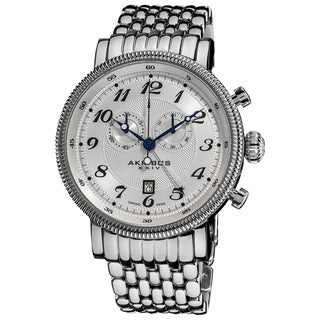 Akribos XXIV Men's Swiss Collection Stainless Steel Bracelet Chronograph Watch