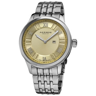 Akribos XXIV Men's Swiss Collection Date Stainless Steel Bracelet Watch
