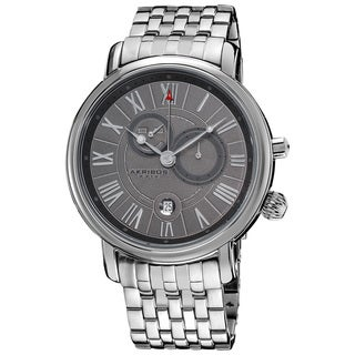 Akribos XXIV Men's Stainless Steel Swiss Collection Multifunction Watch