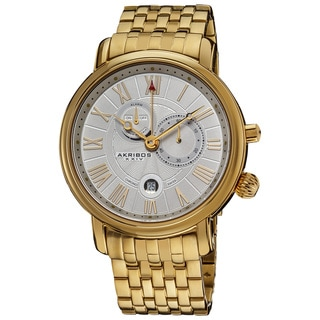 Akribos XXIV Men's Stainless-Steel Swiss Collection Multifunction Watch in Gold Color