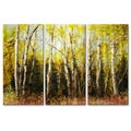 James Corwin 'Alaskan Birch' 3-piece Metal Artwork Set