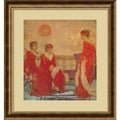 James Abbott McNeill Whistler 'Harmony in Flesh Colour and Red' Framed Art Print