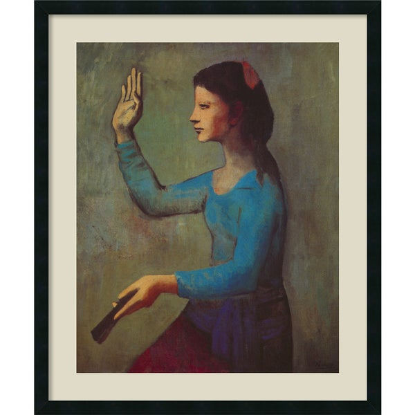 Pablo Picasso 'Woman with a Fan, Paris, Autumn 1905' Framed Art Print