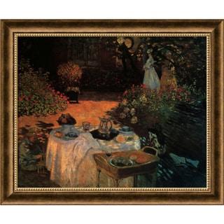 Claude Monet 'Luncheon in the Garden' Framed Art Print (28 x 23-inch)