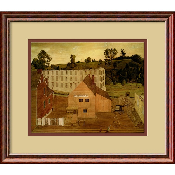 Jessie D. Bunting 'View of Darby, Pennsylvania, After the Burning of the Lord's Mill' Traditional Framed Art Print