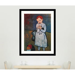 Pablo Picasso 'Child Holding a Dove, Paris, summer 1901' Framed Art Print