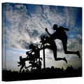 David Liam Kyle 'Hurdler Silhouette' Gallery-Wrapped Canvas