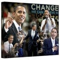 David Liam Kyle &#39;Obama Collage II&#39; Gallery-Wrapped Canvas