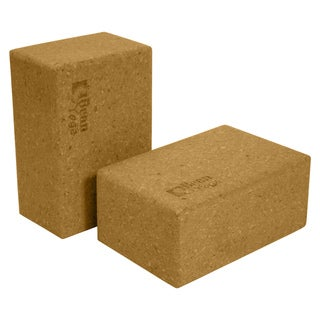 Cork Three-Inch Yoga Blocks (Set of 2)