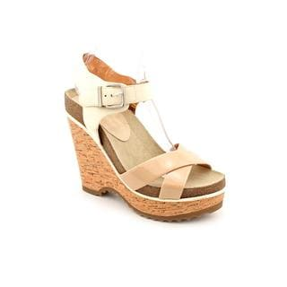 BCBGeneration Women's 'Chessa' Beige Patent Leather Wedges