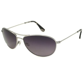 Maui Jim Unisex 'Baby Beach' GS245 17 Silver Titanium Polarized Aviator Sunglasses