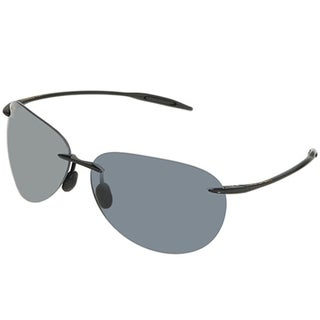 Maui Jim Unisex 'Sugar Beach' 421 02 Rimless Black Aviator Sunglasses