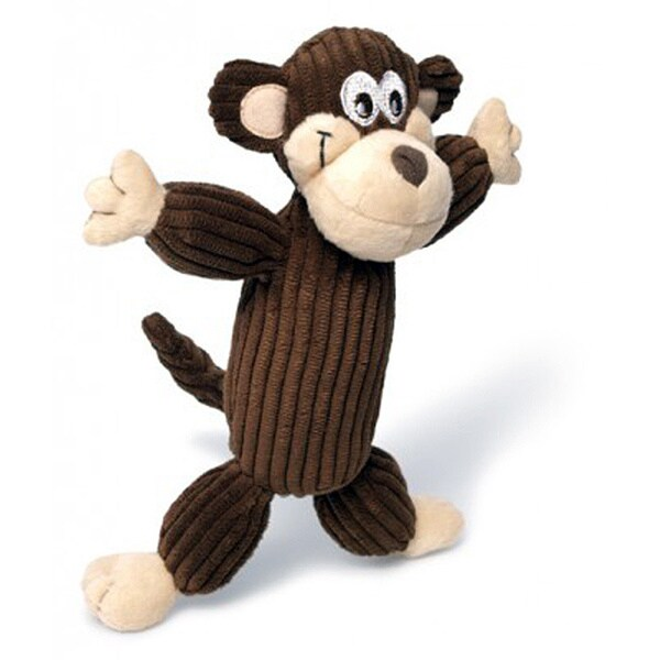 Charming Pet Products Murray the Monkey Plush Corduroy Chew Toy