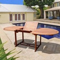 review detail Outdoor Eucalyptus Oval Extention Table with Foldable Butterfly