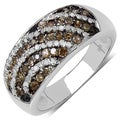 Sterling Silver 5/8ct TDW Champagne and White Diamond Ring (I-J, I3)