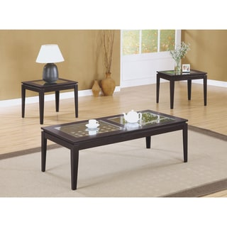 Dark Cappuccino 3-piece Occasional Table Set