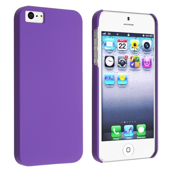 INSTEN Purple Phone Case Cover for Apple iPhone 5