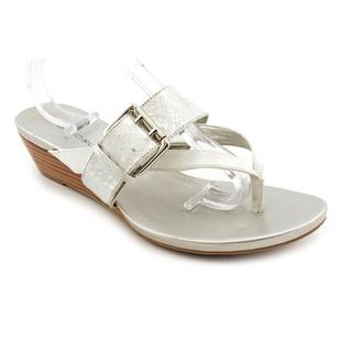 Bandolino Women's 'Buckley' Silver Basic Textile Sandals
