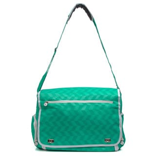 Silhouette Portrait Teal Laptop Tote Bag