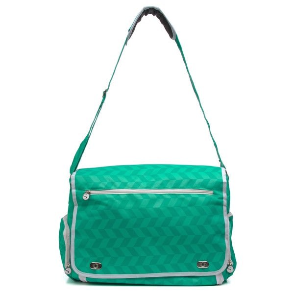 Silhouette Portrait Teal Tote Bag