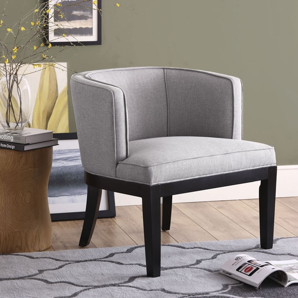 Thomas grey upholstery club chair 15307631 overstock com shopping