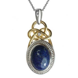 Michael Valitutti Two-tone Lapis and White Sapphire Necklace