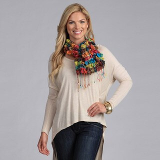Women's Multi-color Silk Puckered Scarf (India)