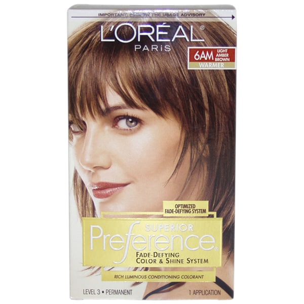L Oreal Superior Preference 6am Light Amber Brown Fade