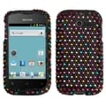 MYBAT Sprinkle Dots Diamante Protector Cover for Huawei M866 Ascend Y